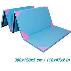CCLIFE 300x120x5cm Weichbodenmatte Turnmatte Klappbar Gymnastikmatte...