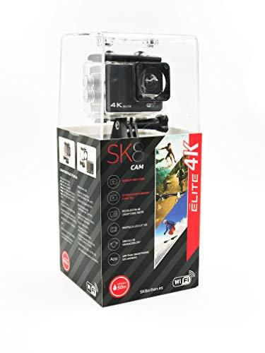SK8 CAM Elite 4K- Cámara de acción 4K con Sensor CMOS, Color Negro