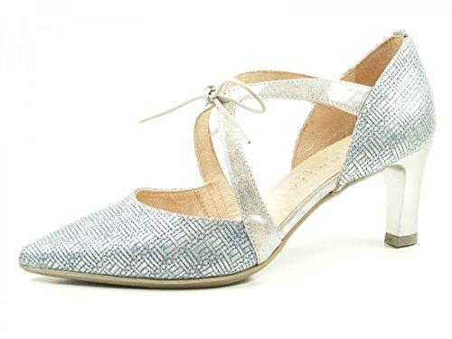 Hispanitas Honey HV74902 Schuhe Damen Metallic Pumps , Schuhgröße:40;Farbe:Blau