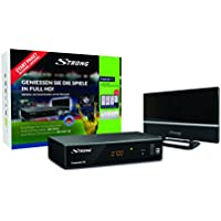 Strong SRT 8541 + SRT ANT 30 Terrestrial Full HD Black TV set-top box - TV Set-Top Boxes (Terrestrial, Digital, DVB-T2, PAL, 1920 x 1080 pixels, 576i,576p,720p,1080i,1080p) - Trova i prezzi più bassi su tvhomecinemaprezzi.eu