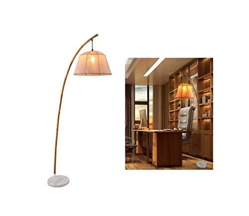 Retro Kreative Stehlampen Massivholz Bambus Antike Wohnzimmer Hotel Schlafzimmer Arbeitszimmer Restaurant Kinderzimmer Bekleidungsgeschäft Büro (Color : Marble base) - Antike Messing Tisch Base