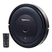 Amazonbasics Slim Robot Vacuum Cleaner 18W(800Pa) with 4 Cleaning Modes Anti-Collision & Drop Sensor Protection Auto Charging Robot Vacuum (0.35L Capacity)