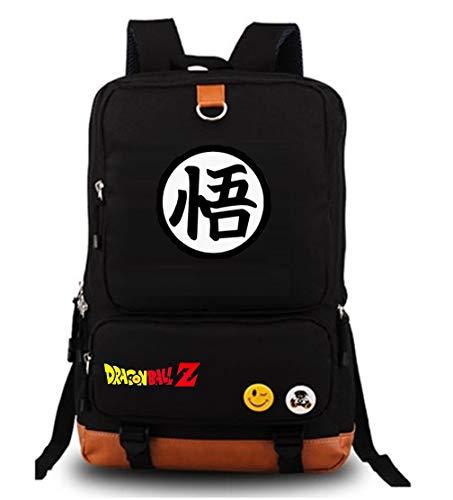 yoyoshome Dragon Ball Z Anime Goku Cosplay Luminous Segeltuch Rucksack Schule Tasche, DragonBall 13 (schwarz) - 10fedDsJdcdvtr