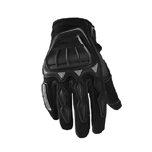 Scoyco GS MC08 Leather Motorcycle Riding Gloves (Black, Large)
