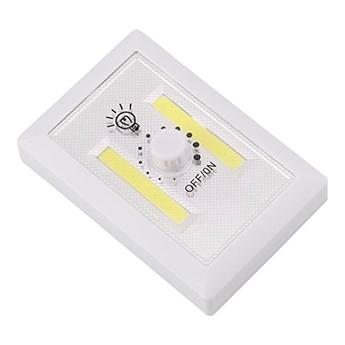 Magnetic COB LED Cordless Light Rotary Switch Wall Night Lights Kitchen Cabinet