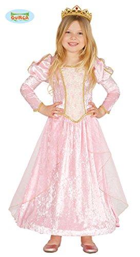 Rosa Märchen Prinzessin - Kostüm für Kinder Karneval Fasching Kleid Gr. 98 - 134, Größe:110/116