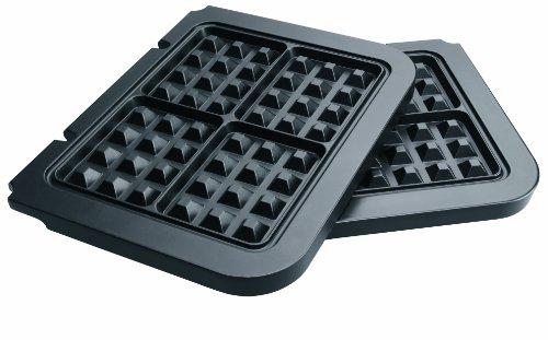 Cuisinart GR030E - Gofrera, color negro