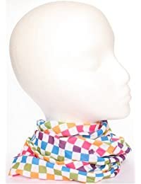 TC-Accessories RAINBOW white check squares 12 in 1 snood tube scarf Multifunctional Headwear