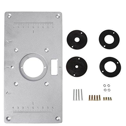 ZOOMY Placa inserción Mesa fresadora Aluminio 4 Anillos