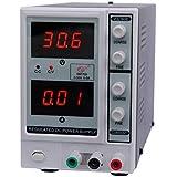 KKmoon 0-30V 0-5A DC Source d'Alimentation 3 Digits Ajustables Courant Continu / Sortie Unique / Tension Réglable Dual LED Affichage