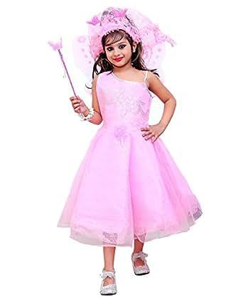 Aarika Girls' Party Wear Frock (PARI-Pink-Frock_28_7-8 Years)