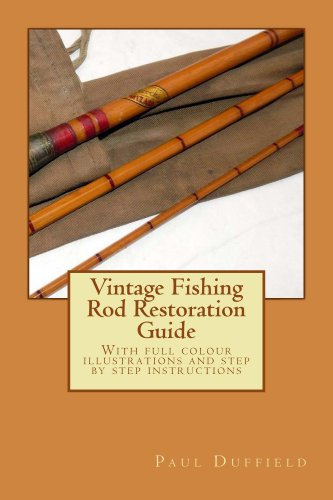 Repair Old Book Cover : Vintage fishing rod restoration guide amazon mr
