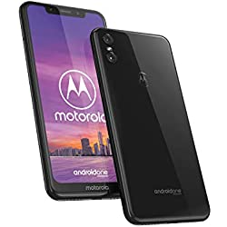Motorola One - Smartphone Android One (pantalla de 5.9'' ratio 19:9, cámara dual de 13 MP, 4 GB de RAM, 64 GB, Dual Sim), color negro