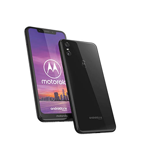 Motorola One, Smartphone Android Display 5,9' in 19:9, Dual Camera da 13Mp, 4/64 GB, Dual Sim, Cover protettiva inclusa, Nero (Ceramic Black)
