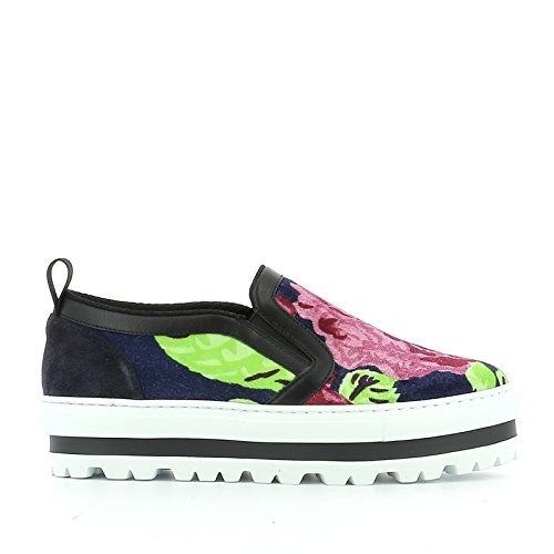 MSGM SLIP ON SNEAKERS DONNA 2142MDS08400 VELLUTO MULTICOLOR