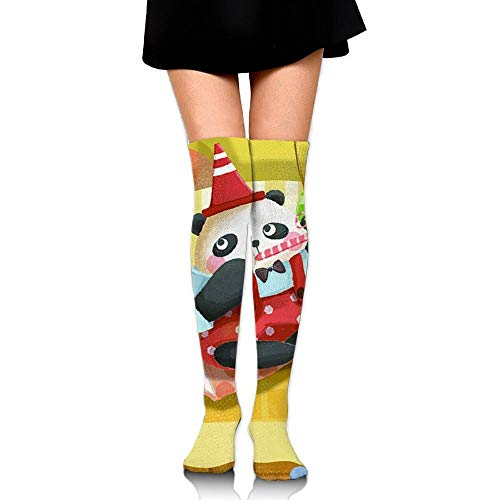 CVDFVFGB Unisex Pandas Paint Colorful Casual Crew Top Socks Knee Long High Socks -