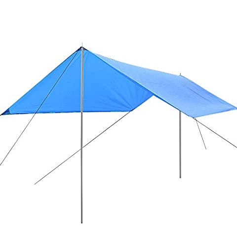 niceEshop(TM) Lightweight Waterproof Sun Shelter Tarp 95% Anti-UV Silver Coated Fabric Sunshade Tentfor for Picnic,Beach,Traveling,Camping,Hiking Hammock Outdoors,Blue