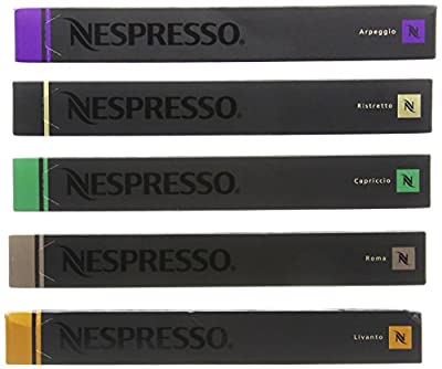 50 Original Nespresso Coffee Capsules (Mixed) by Nestle