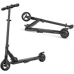 M MEGAWHEELS Elektro Scooter - Phantom Pro Klappbarer City-Roller, Höhenverstellbar, Tret-Roller für Erwachsene und Kinder S1 (Schwarz)