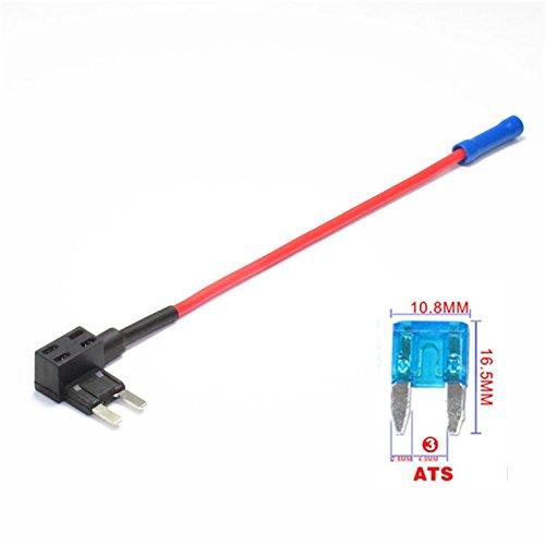 Qiyun Kit Auto, Geschenke für Auto, Elektro Gerät für Schaltung Behälter der Flachsicherungen ATO Fuse Box Holder Extraktion Auto Tool Kit (ohne Sicherung) 1pcs V-ACS (samll) - through 2.5 (Vac-tool-kit)