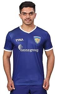 TYKA Chennaiyin FC Fan Jersey, Men's XXX-Large (Dark Blue)