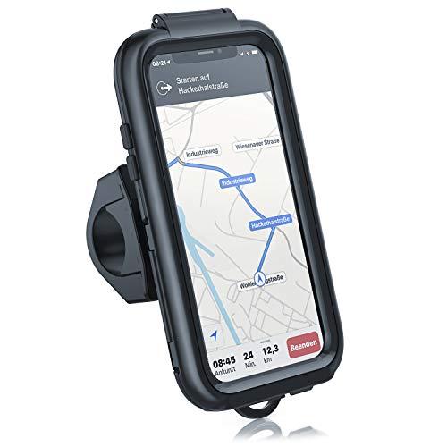CSL - Fahrradhalterung für iPhone X und XS - Fahrrad Case Schutzhülle - Spritzwasserdicht - Handy Smartphone Halterung - Touchscreen Unterstützung - OPTIMAL geeignet für Bike Navigation