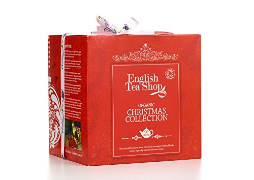 English Tea Shop Organic Christmas Collection Red Tray (Pack of 2, Total 192 Tea Bags)