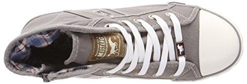 Mustang 1099-502-932, Sneaker a Collo Alto Donna Grigio (Silbergrau)