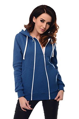 Purpless Maternity 3in1 Schwangerschaft und Pflege Kapuzenpullover 9053 Jeans