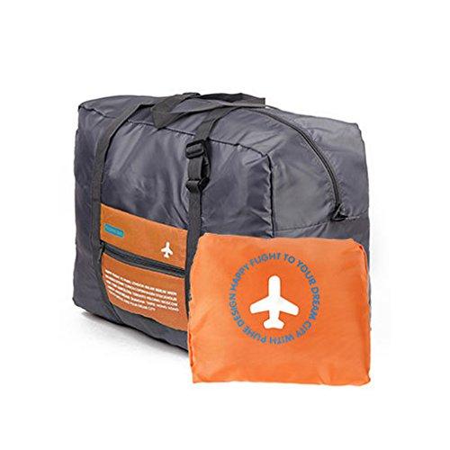 QHGstore Reisen Big Size Gepäck-Falte-Kleidung-Speicher Carry-On Duffle Bag Orange (Griff Tasche Falte)