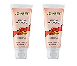 Jovees Apricot & Almond Face Scrub 100 G (Pack of 2)