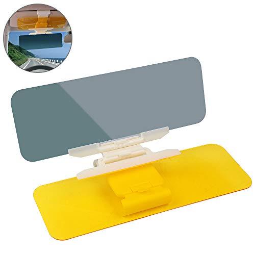 KIPIDA Auto Sonnenschutz, 2 in 1 Blendschutz Auto Sonnenblende, Tag und Nacht HD Fahren Visier/Goggles für Auto SUVS LKW - UV Filter/Augenschutz