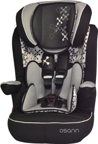 Osann Kinderautositz i - max SP Corail Black schwarz, 9 bis 36 kg, ECE Gruppe 1 / 2 / 3, von ca. 9 Monate bis 12 Jahre, mitwachsende Kopfstütze