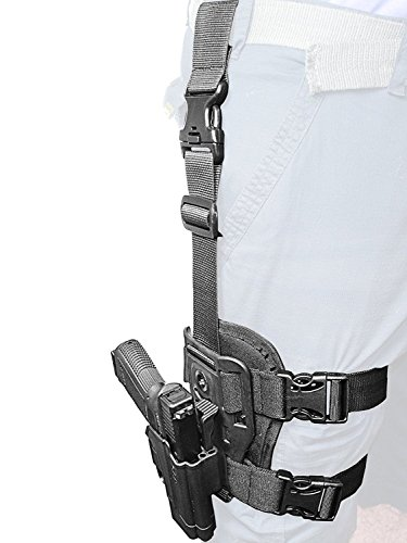 ORPAZ Defense Dropleg Thigh rig platform + Taktisch verstellbar Pistole Holster Active Retention Mit Thumb Release Sicherheit für Alle Smith & Wesson S&W M&P 9mm, .40cal, .22cal & .45cal, M&P M2.0 in 9mm, .40cal & .45cal, SD9, SD40, SD9VE (Ve And Smith Holster Wesson-sd40)