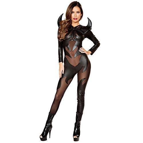 SEEKSUNGM Abbigliamento Donna, Abbigliamento Donna Halloween, Sexy Spider-Man Costume Diavolo Vampiro, Uniforme Cosplay