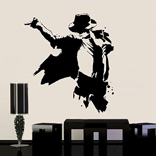 jiuyaomai King of Stars Jackson Space Dance Wandaufkleber Vinyl Wohnkultur Teen Schlafzimmer Dance Room Dorm Decals Music Wallpaper schwarz 42x47cm Tiger Wallpaper Set