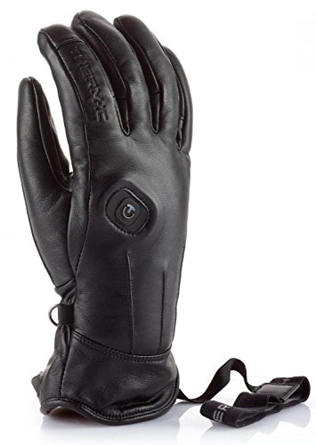 Therm-ic powergloves Leather Ladies – Guantes calefactables, Color Negro, tamaño S