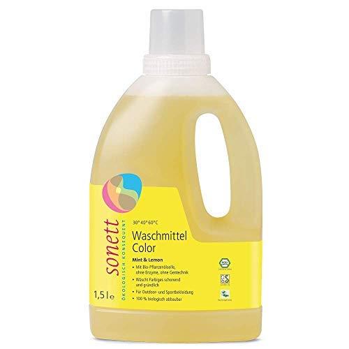 Waschmittel Color: Duft von Bio-Minzöl und Bio-Lemongrassöl, 100% biologisch abbaubar -