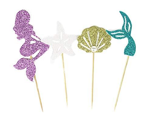 caramelle cioccolato Stampi in silicone a tema sirena stampo in silicone per decorazione torte cavalluccio marino stella marina decorazione cupcake coda di sirena