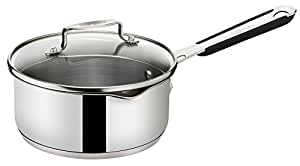 Tefal E79122 Jamie Oliver induction handle Kasserolle with glass lid, 16 cm, 1,4L, stainless steel