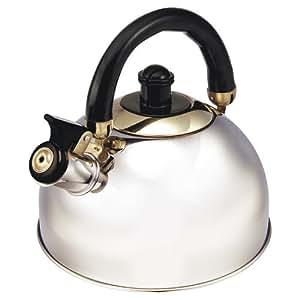 Royalty line suisse théière-bouilloire à sifflet en inox brillant-rL kT01 noirs avec poignée pour tous feux, dont induction
