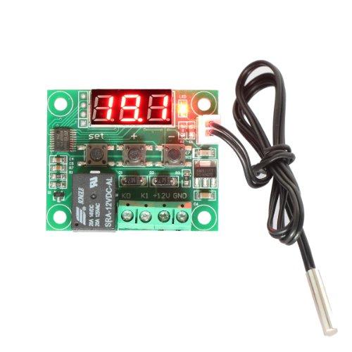DROK® Enfriamiento 12V DC Digital / calefacción del termostato de control de temperatura -50 a 110 ° C de temperatura del controlador 10A relé con sonda del sensor a prueba de agua