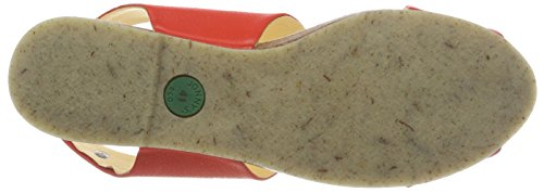 Jonnys Damen Bea Peeptoe Sandalen Rot (Geranium)