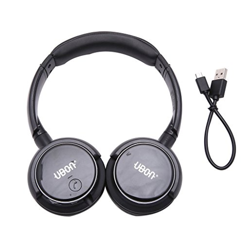 Ubon GBT-5605 Pure Stereo Wireless Bluetooth Headphone with Mic (Black)