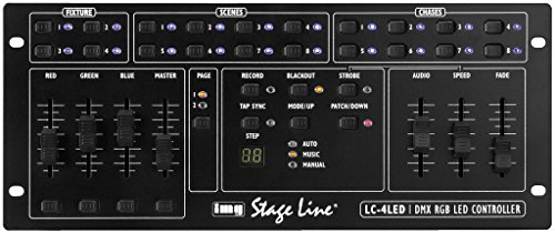 IMG STAGELINE LC-4LED Professioneller RGB-LED-DMX-Controller schwarz