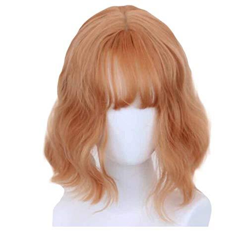 Or/Rose 30 cm Cosplay Perruque Longue Perruque De Cheveux Longs Bouclés Cheveux Courts Bob