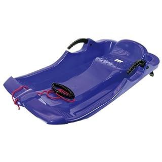 AlpenGaudi, AlpenSpider Rot Plastic sled with Plastic brakes blue