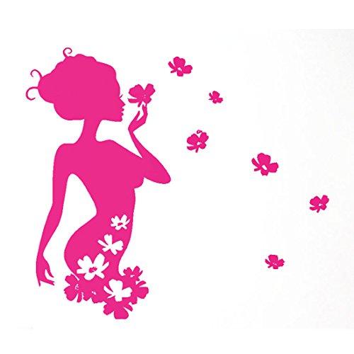 Vinilo Decorativo Diseño de Hada de Flores Pegatina Removible Resistente Al Agua del Patrón