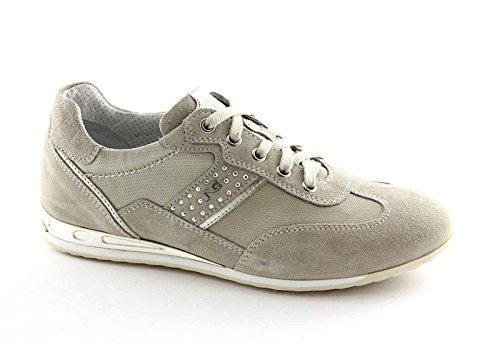 Nero Giardini 15082 Platino Scarpe Donna Sportive Sneakers Beige