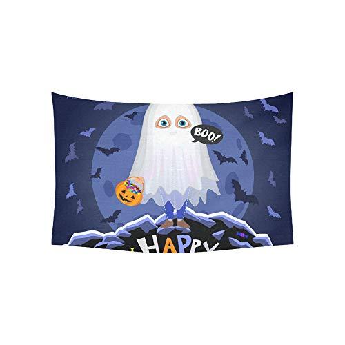 JOCHUAN Wandteppich Happy Halloween Boy Halloween-Kostüm auf